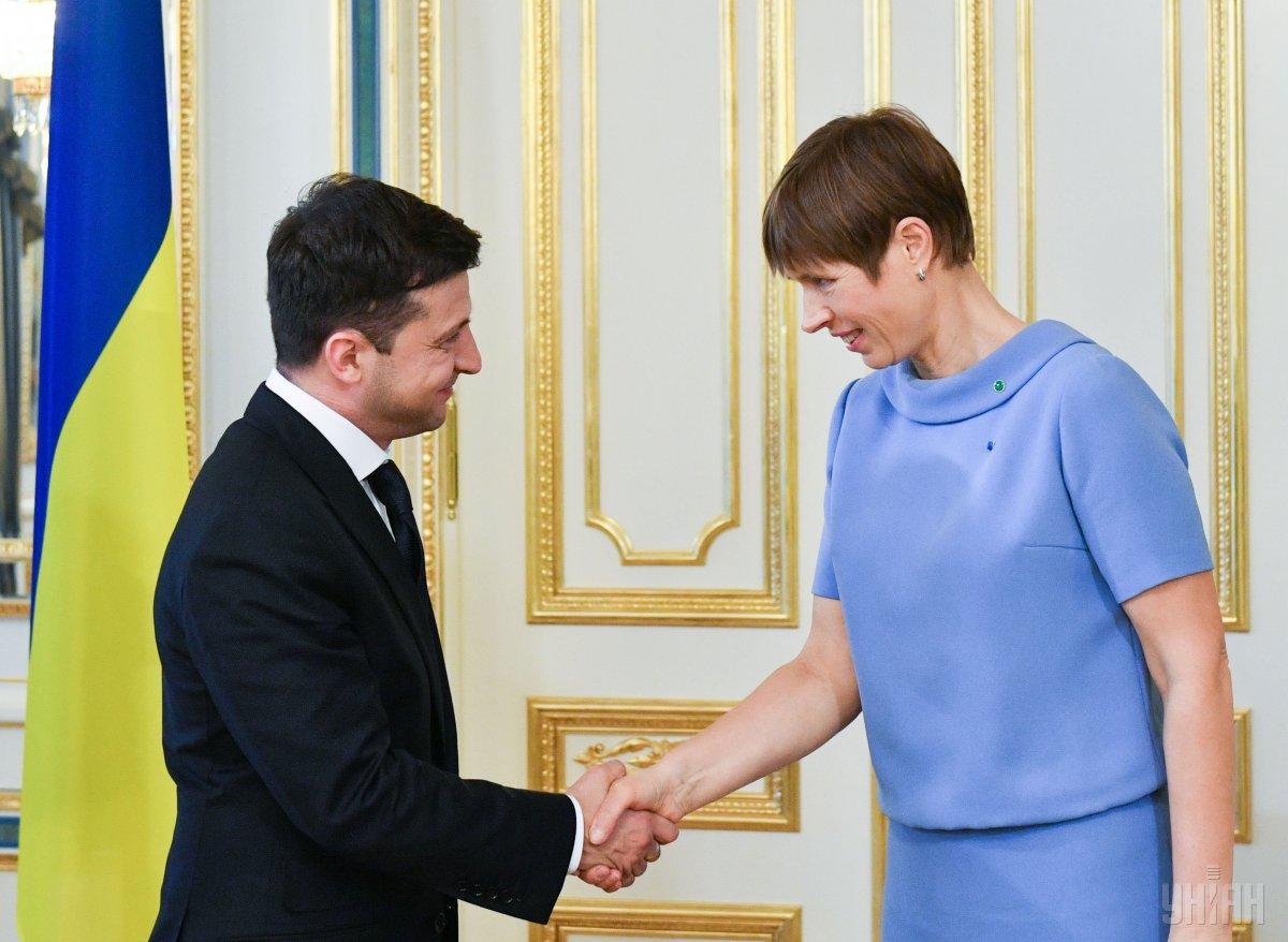 Президент Украины Владимир Зеленский и президент Эстонии Керсти Кальюлайд / фото УНИАН