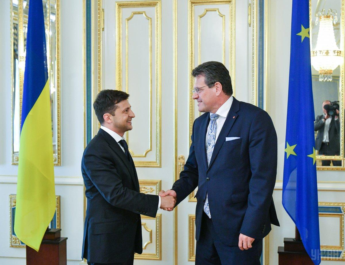 Марош Шевчович привітав Володимира Зеленського із вступом на посаду президента України / фото УНІАН