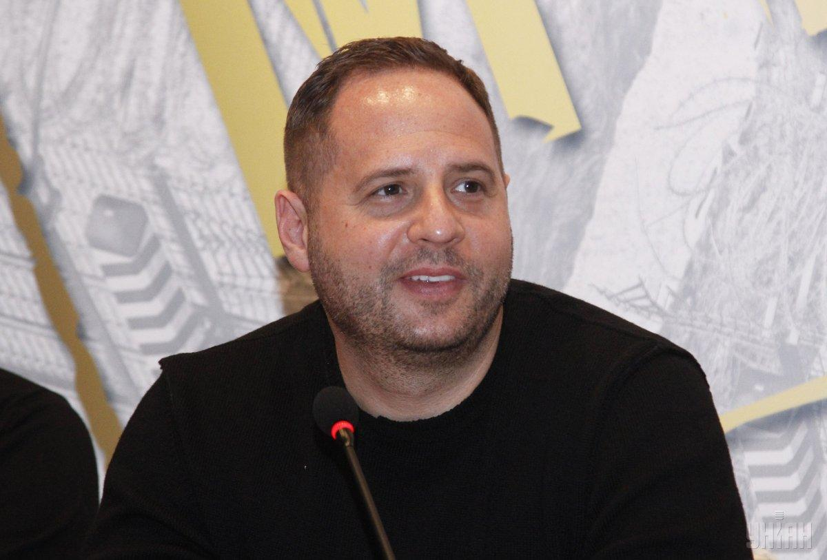 """Ермак сообщил, что провел встречу в Офисе президента с активистами, чтобы обсудить """"формулу Штайнмайера"""" / фото УНИАН"""