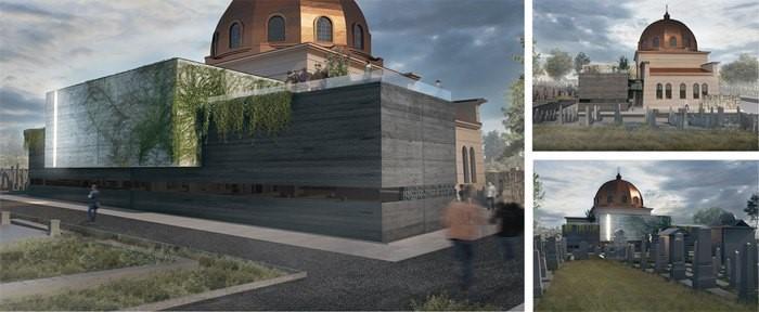 The museum pavilion construction project