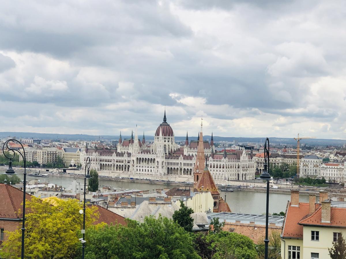 Вид на венгерский парламент / Фото Вероника Кордон