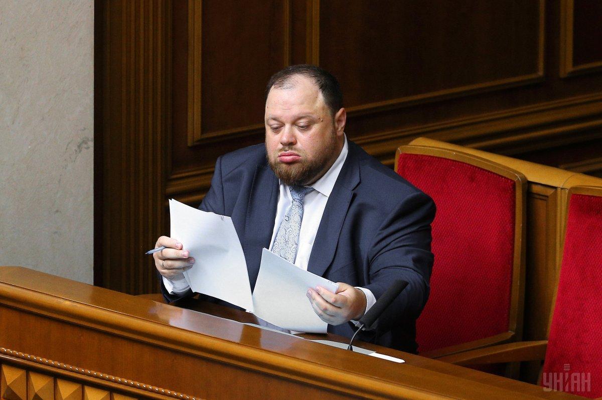 """Стефанчук висловив думку, що """"кінцеву відповідь ми побачимо після того, як Верховна Рада отримає проект закону / фото УНІАН"""