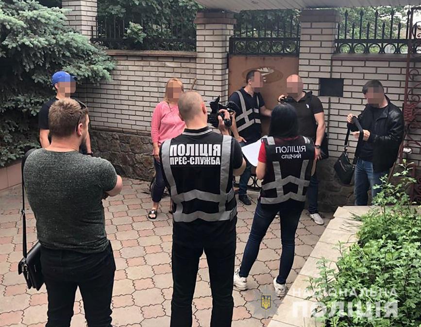 Правоохранители провели шесть одновременных обысков / фото: Нацполиции Украины