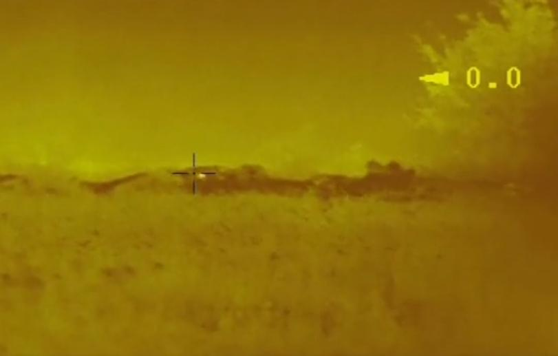 Удар військових потрапив на відео / Скріншот