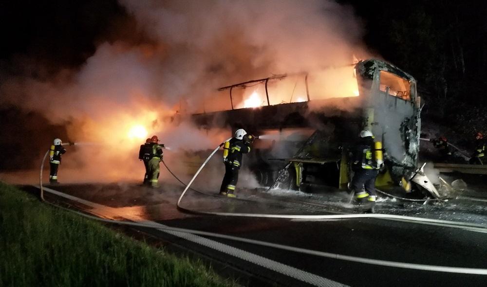 В Польше сгорел украинский рейсовый автобус \ OSP Balice
