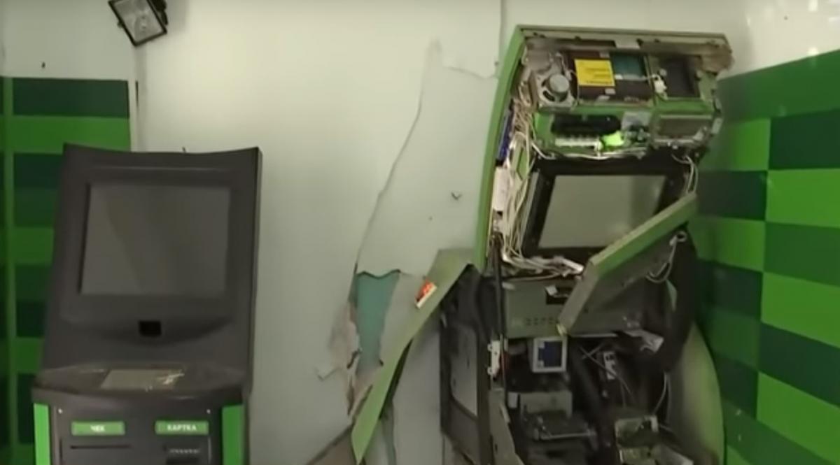 Воры взорвали банкомат / скриншот видео