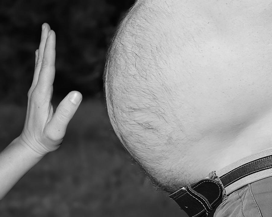 Вісцеральний жир легко накопичується унаслідокмалорухливого способу життя / фото pixabay.com
