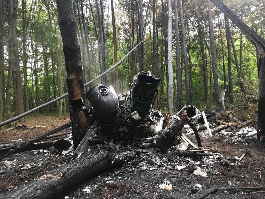 В результате катастрофы вертолета Ми-8 на Ривненщинепогибли четверо военных / фото полиции