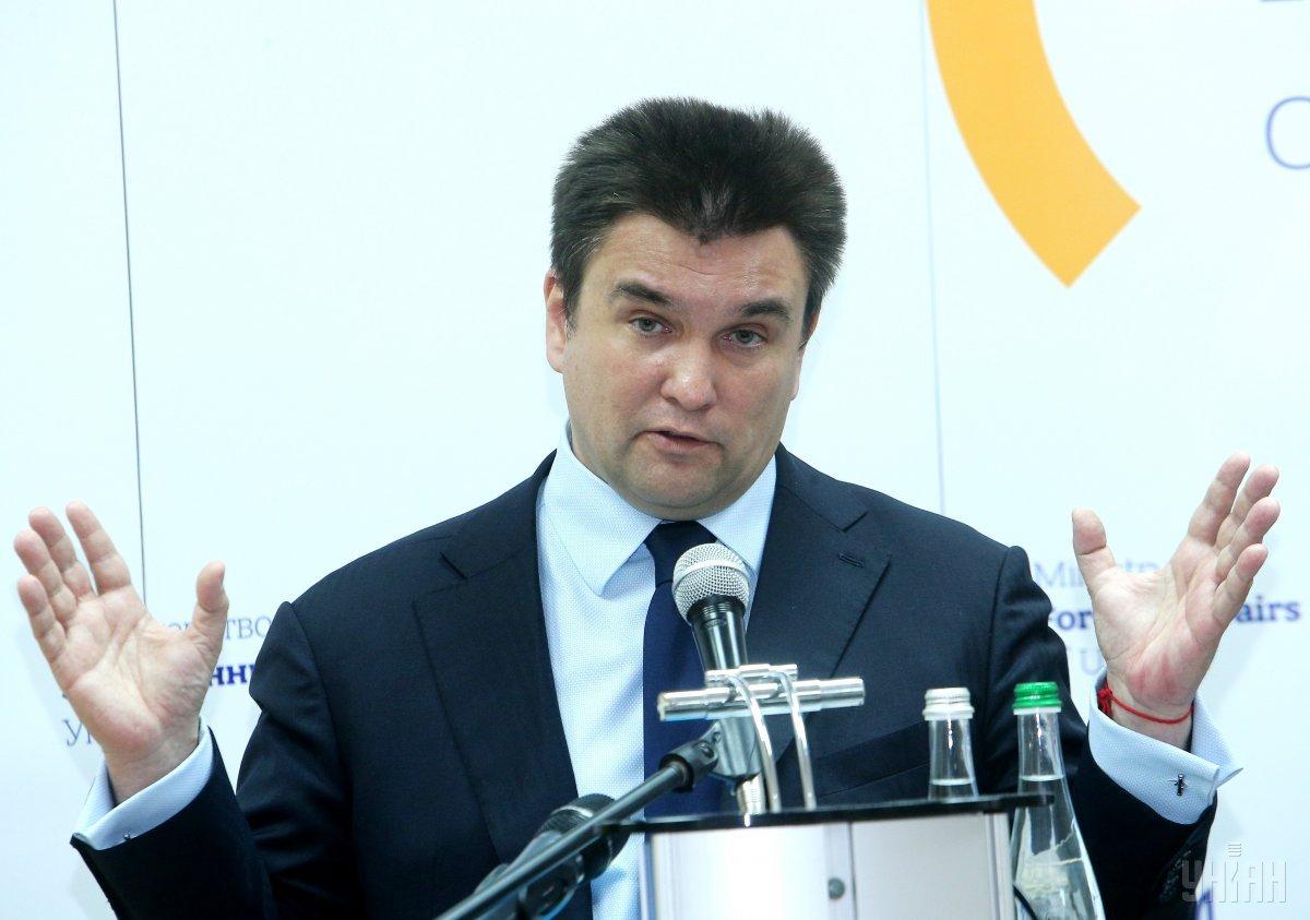 Климкин не будет сопровождать Зеленского в рамках первого зарубежного визита / фото УНИАН