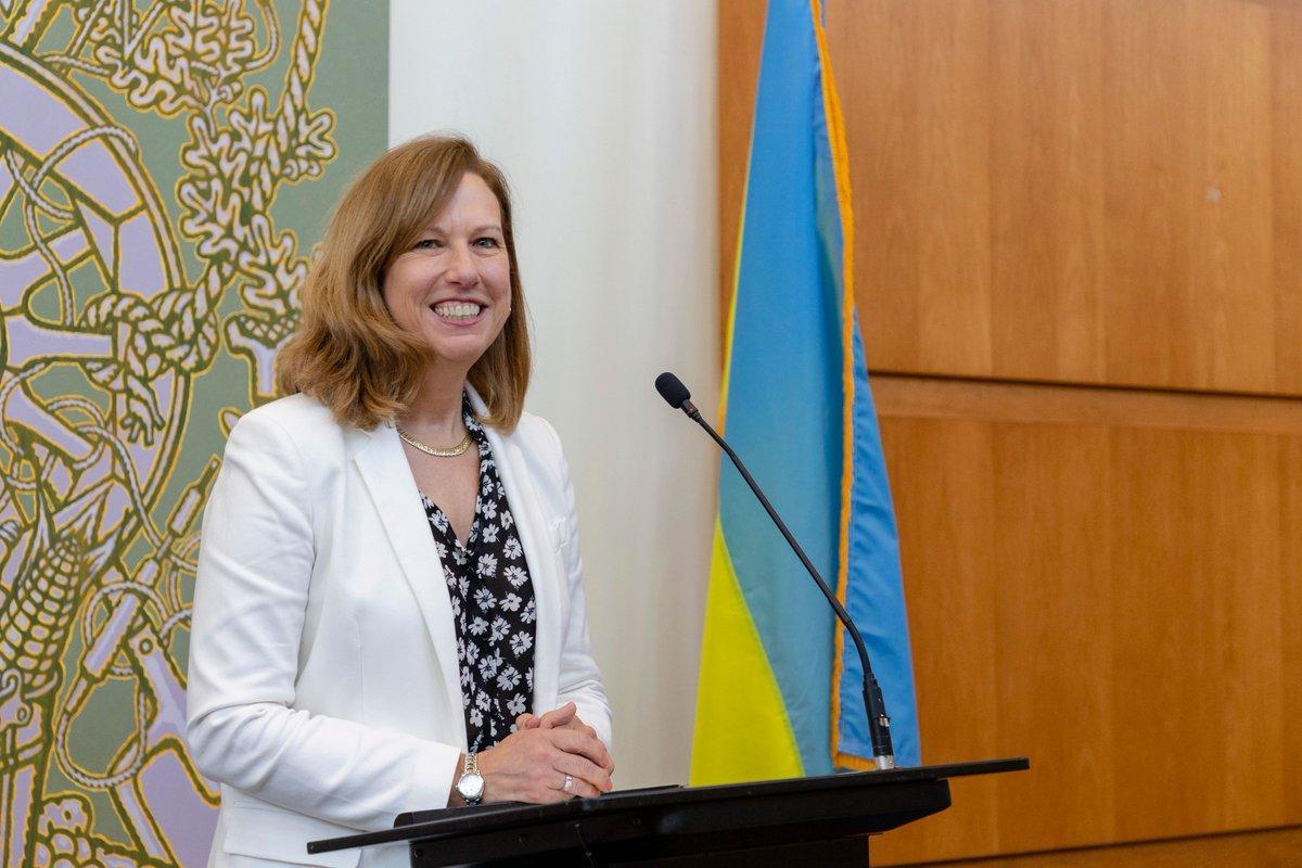 Кристина Квин прибыла в Киев в начале недели / фото twitter.com/USEmbassyKyiv