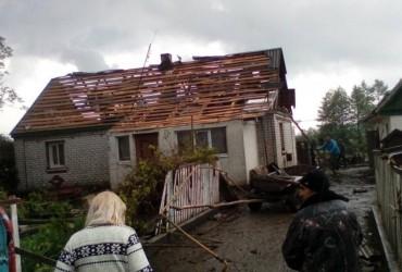 У Житомирській області пронісся потужний торнадо і випав величезний град (відео)