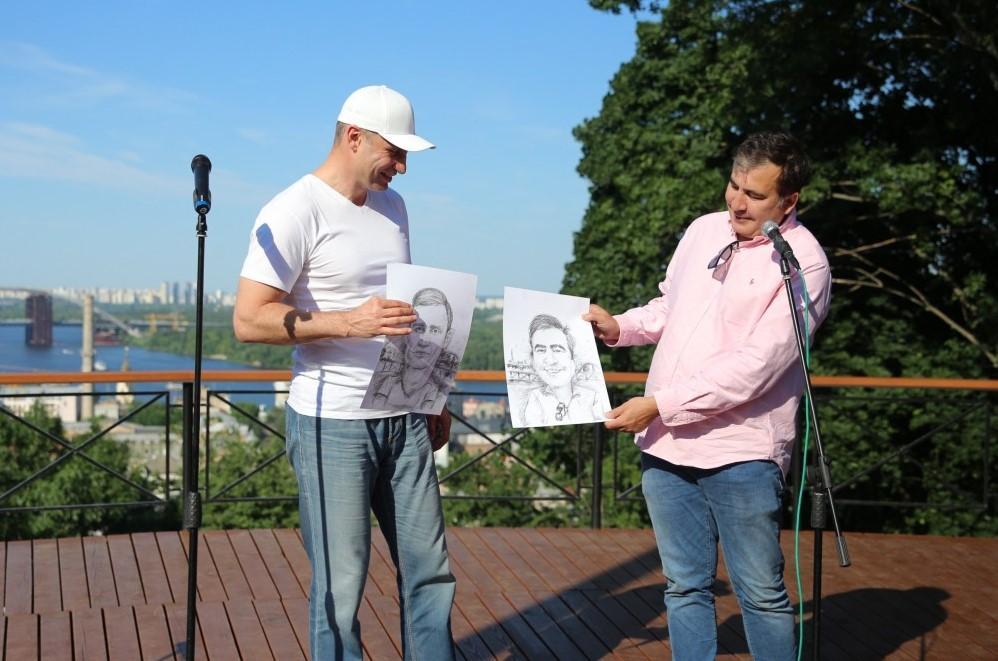 Віталій Кличко та Міхеіл Саакашвілі / фото kiev.klichko.org