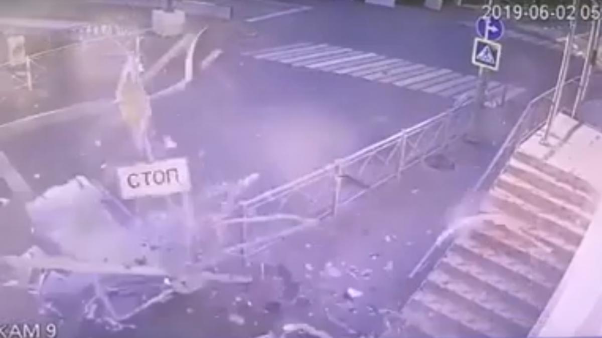 На видео с места аварии лиц водителя и пассажиров не рассмотреть/ скриншот