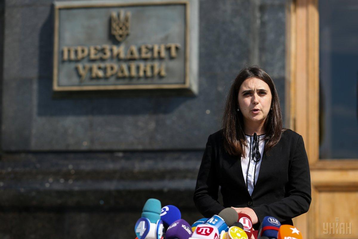 Yulia Mendel, Zelensky's press secretary / Photo from UNIAN