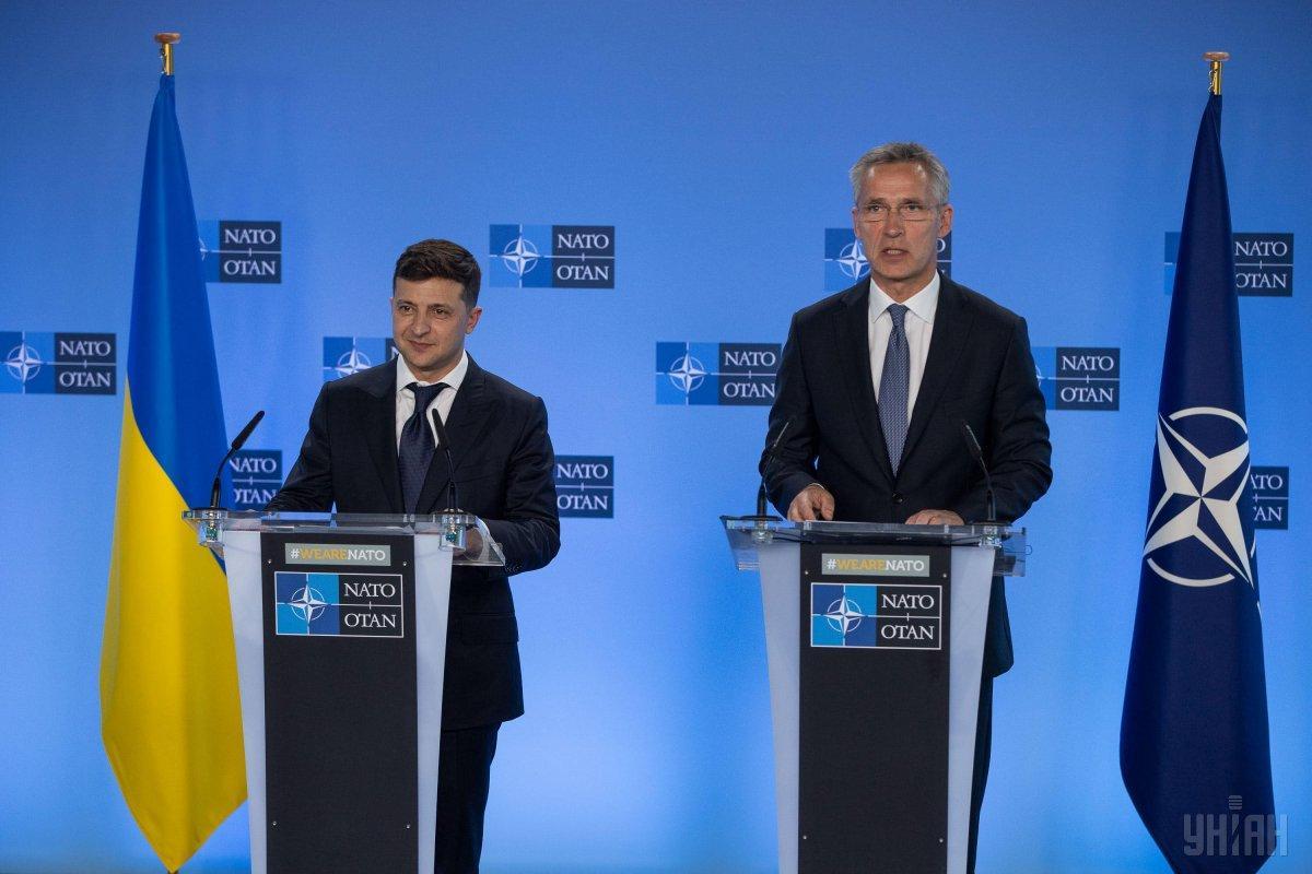 Президент Украины Владимир Зеленский и Генеральный секретарь НАТО Йенс Столтенберг / фото УНИАН