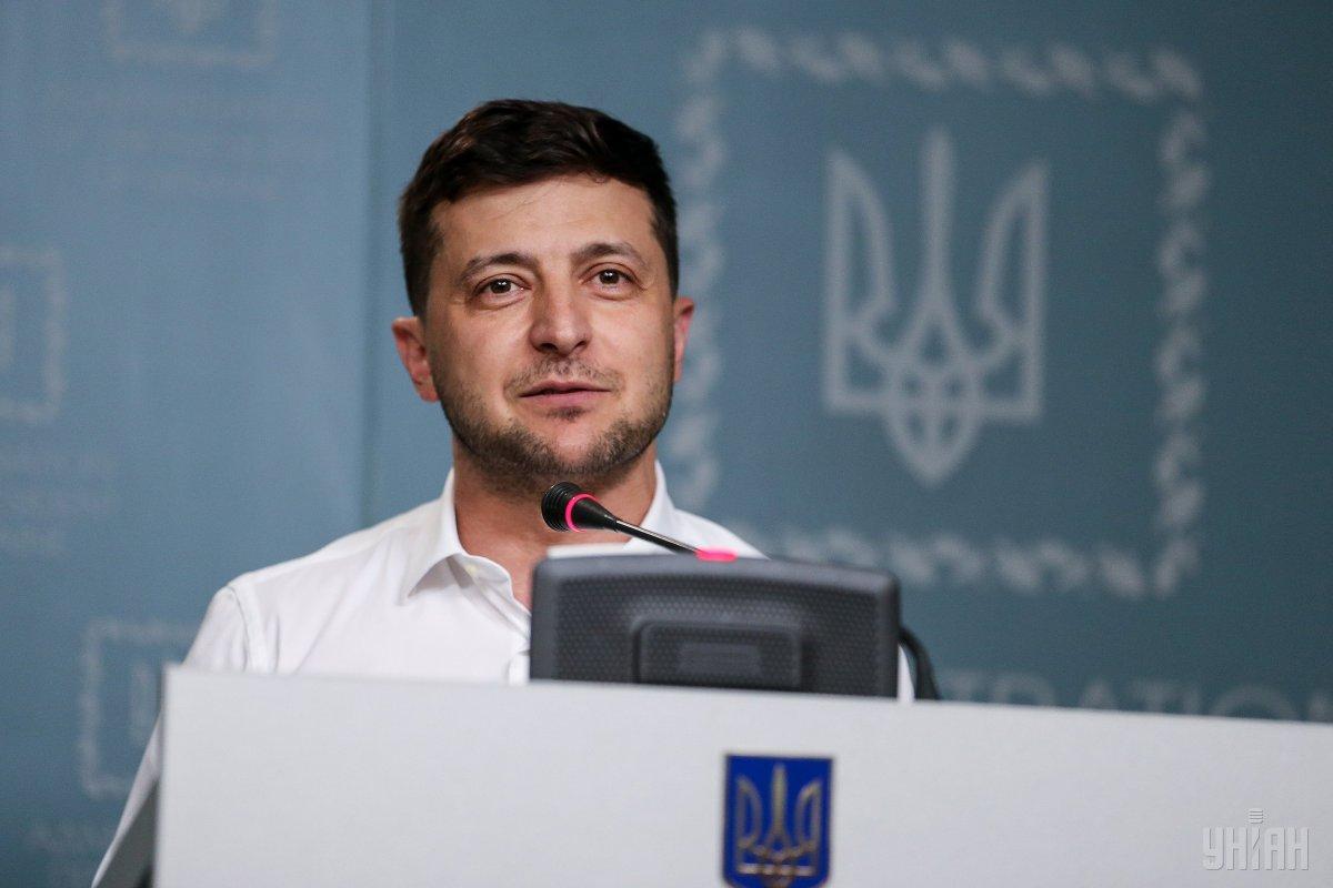 Владимир Зеленский проводит брифинг в Киеве / фото УНИАН