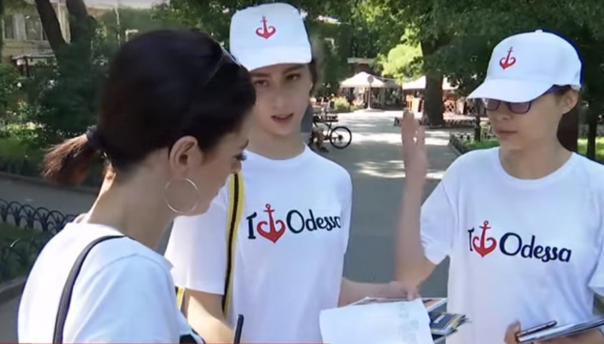 На улицы Одессы вышли информационные патрули / скриншот видео