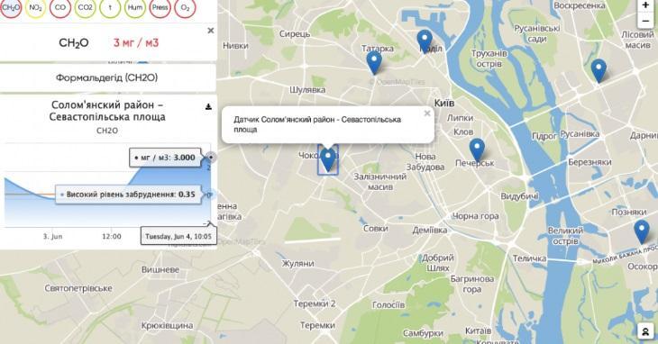 Сейчас данные снимают для 10 разных районов столицы / скриншот