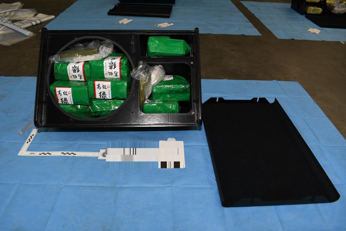 Наркотики были спрятаны внутри динамиков / фото afp.gov.au