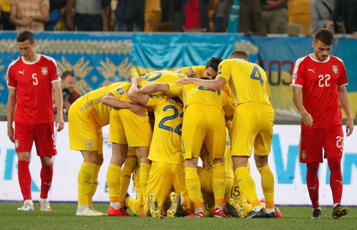 Украина - Сербия / REUTERS