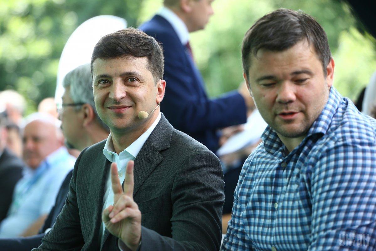 """Зеленський завітав до Трускавця, щоб зустрітись із обраними депутатами відпартії """"Слуга народу""""/ фото УНІАН"""