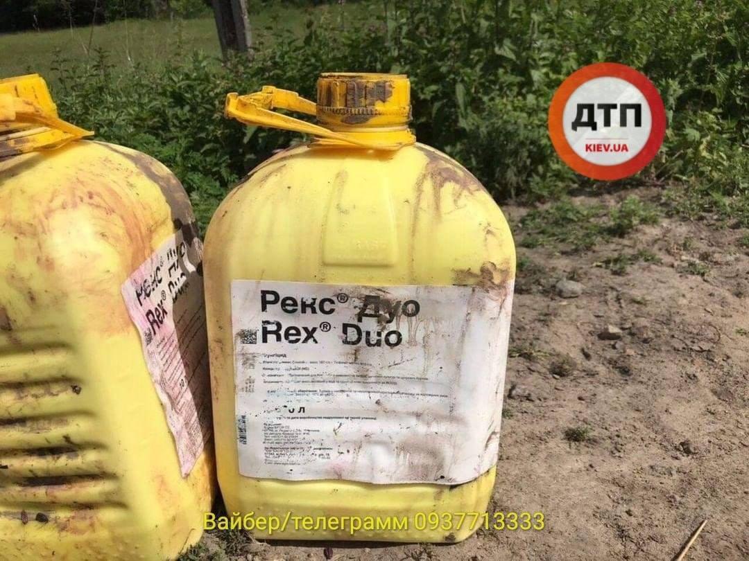 Як стверджують в ОДА, небезпечних інсектицидів серед хімічних речовин не було / фото facebook.com/dtp.kiev.ua