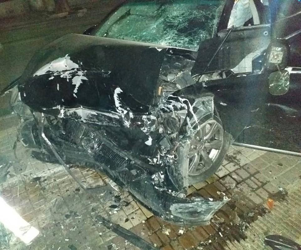 Происшествие случилось ночью в центре города / фото: Пресс-служба патрульной полиции в Одесской области