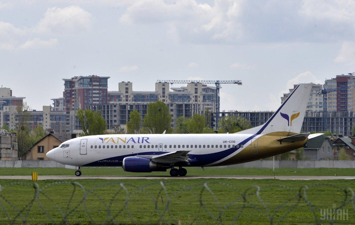 Авіакомпанії YanAir знову дозволили літати / фото УНІАН