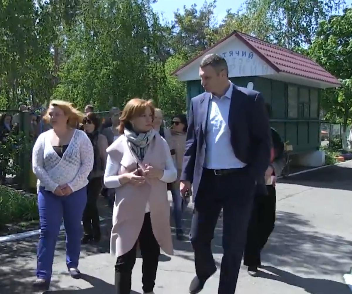 Ганна Старостенко і Віталій Кличко / фото УНІАН