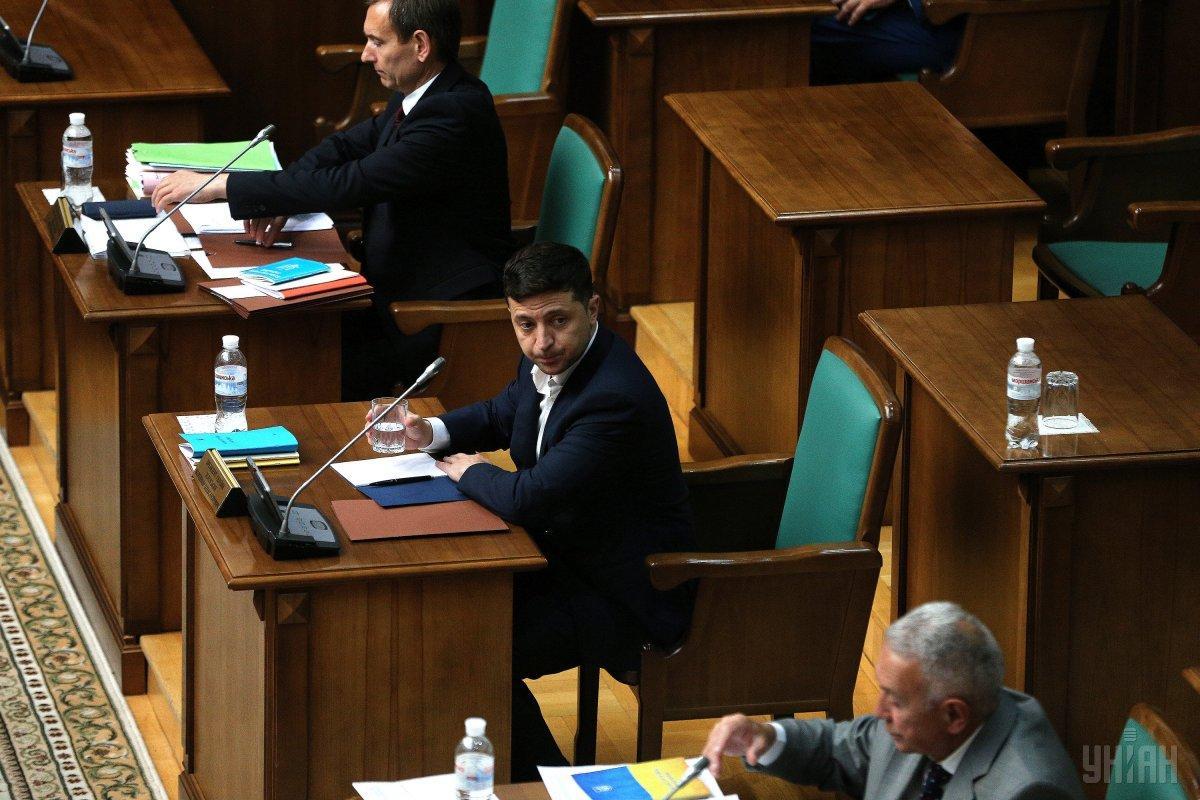 21 травня президент Зеленський підписав указ про дострокове припинення повноважень ВР / Фото УНІАН