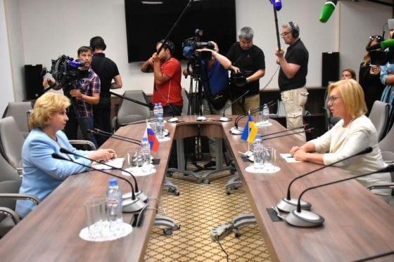 Людмила Денісова провела перемовини з Тетяною Москальковою / фото facebook.com/denisovaombudsman