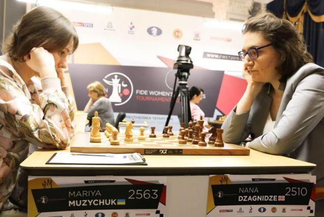 Марія Музичук зіграла внічию з Наною Дзагнідзе / фото: fwct2019.com