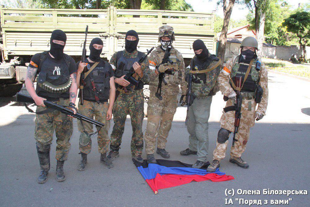 Украинские военные в Мариуполе / фото Елена Белозерская