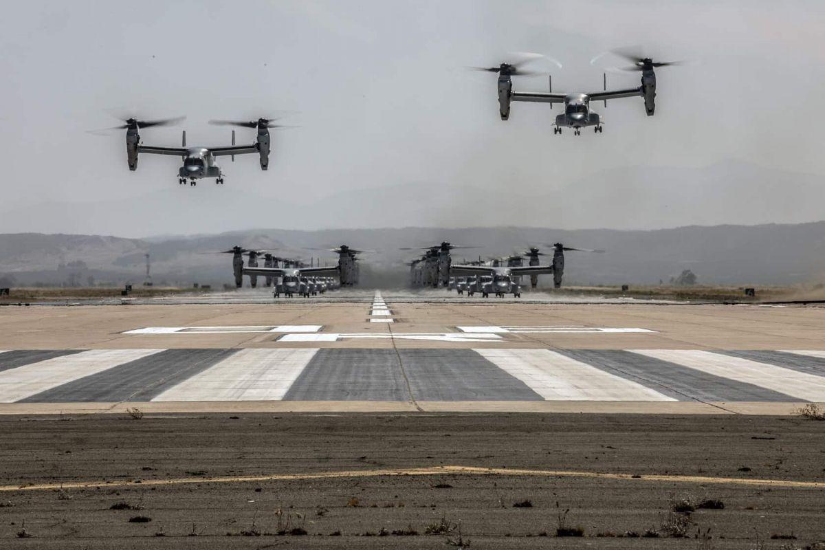 Корпус морской пехоты США провел учения на своей калифорнийской базе/ фото: defence-blog
