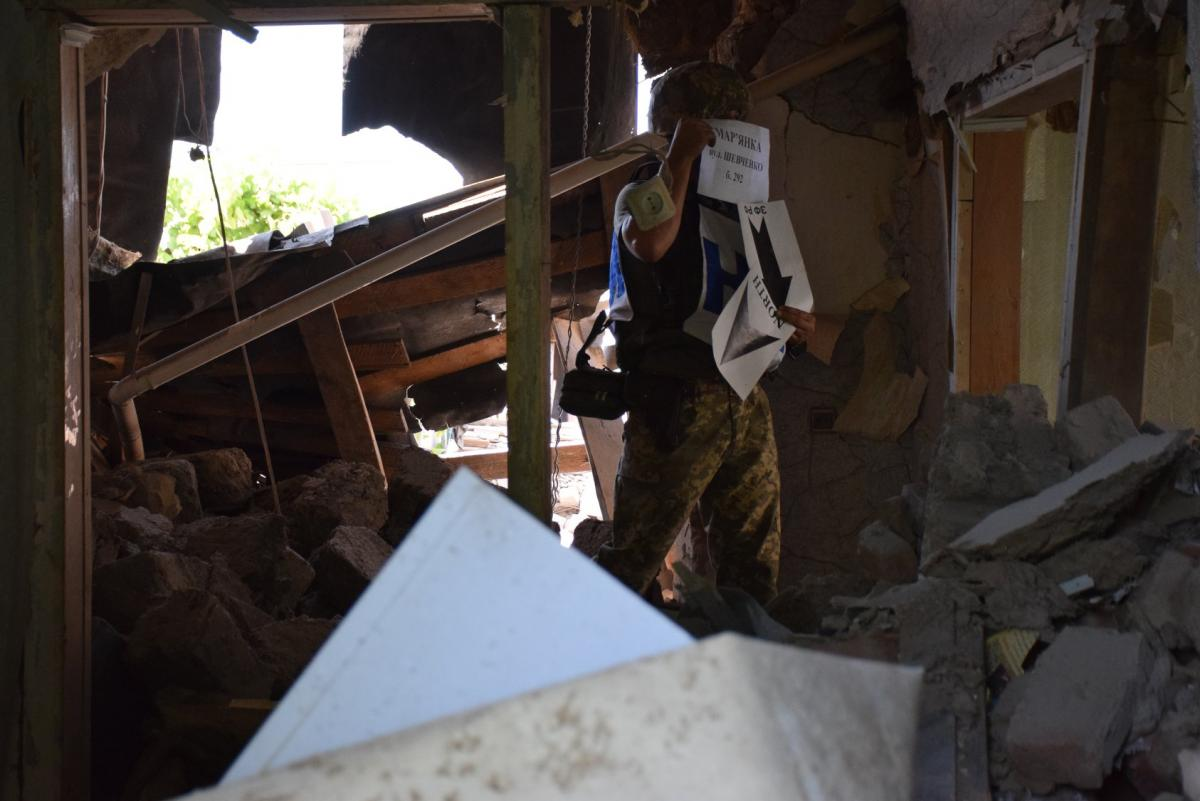 Дом восстановлению не подлежит / фото: штаб ООС / Facebook