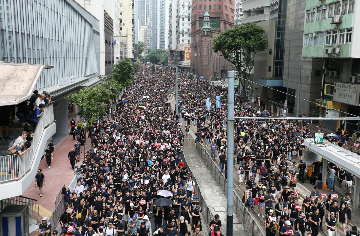 hong kong protest - 9 часов