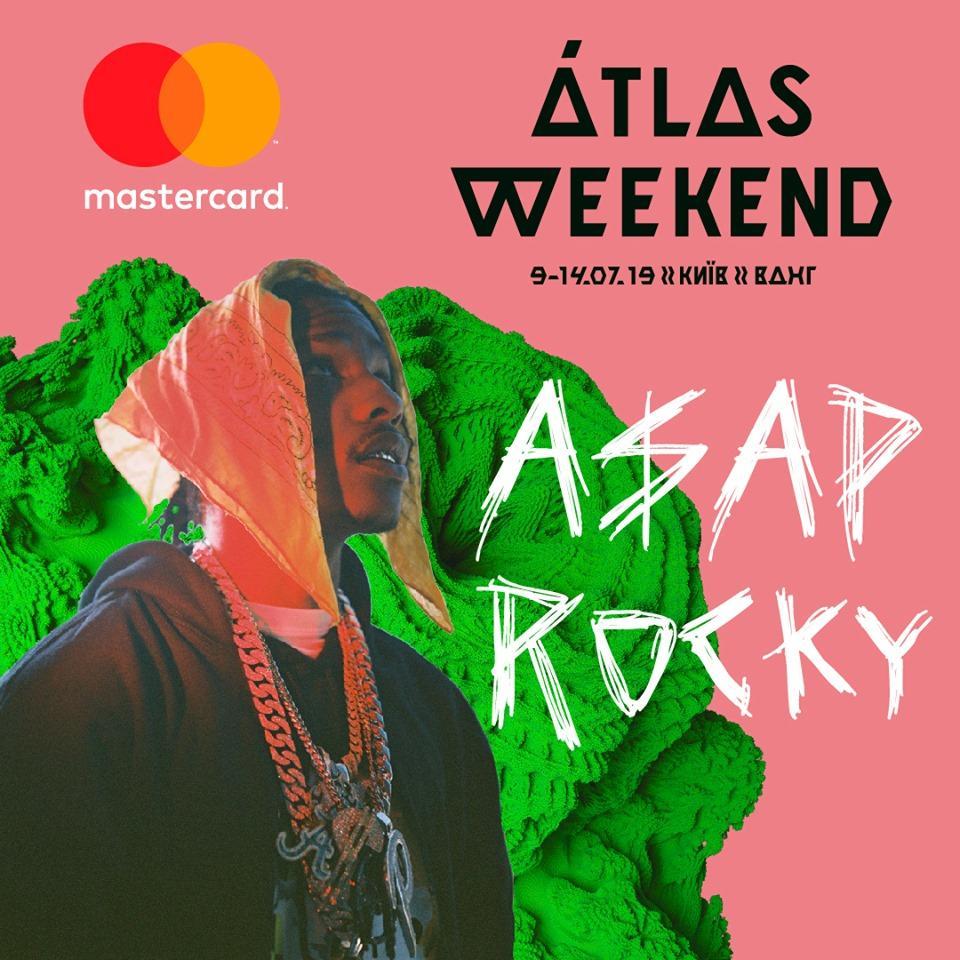 Рэпер A$AP Rocky будет хедлайнером киевского фестиваля Atlas Weekend