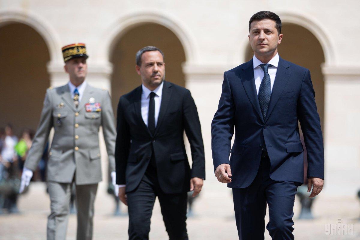 Ранее Зеленский встретился с президентом Франции Макроном / фото УНИАН