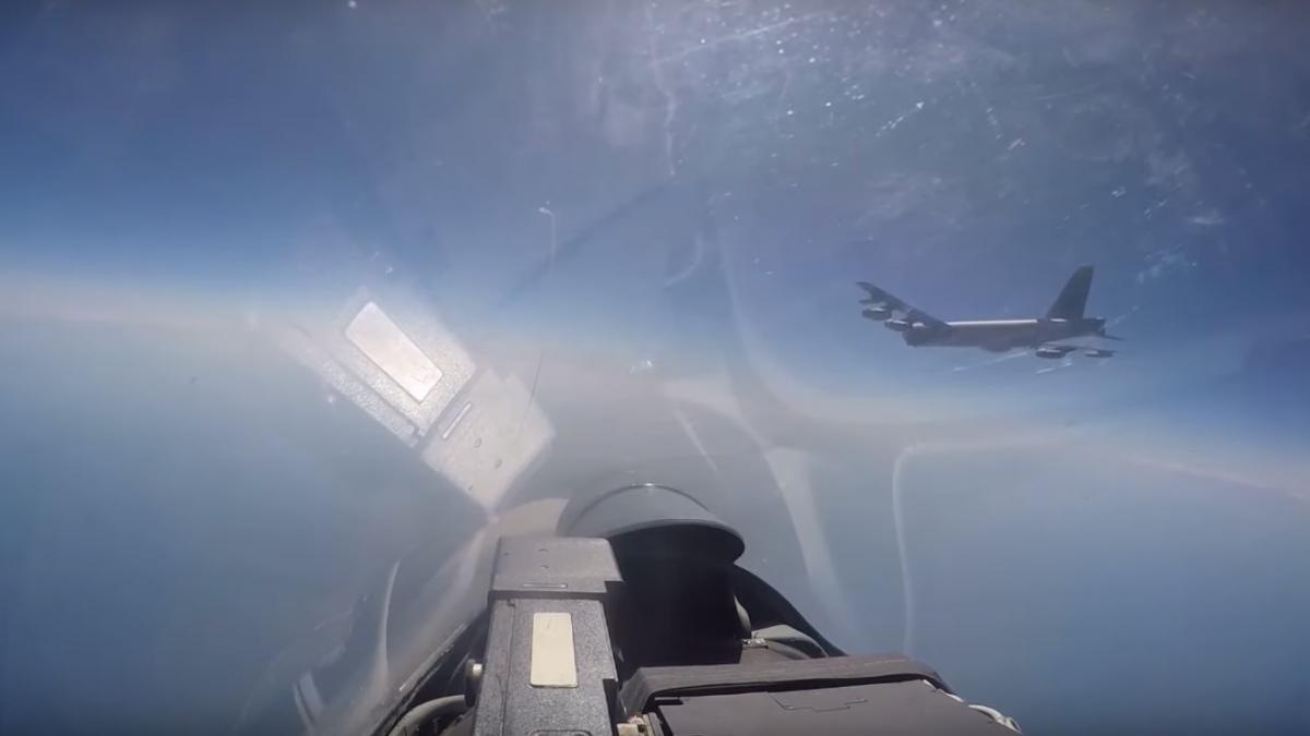 Американський бомбардувальник не порушував кордон Росії / скріншот з відео