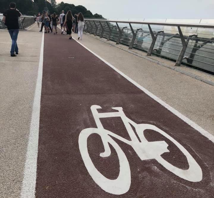Так сейчас выглядит велодорожка / фото: Богдан Бурьяненко