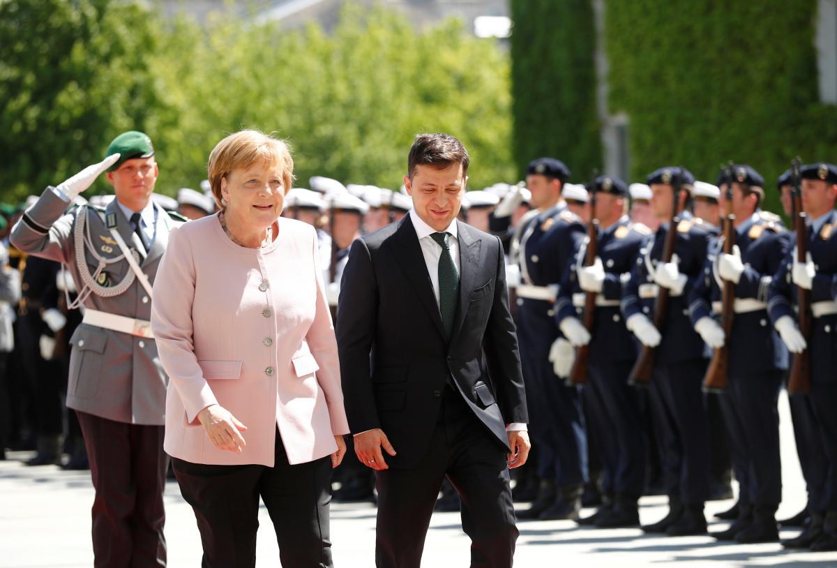 Ангела Меркель и Владимир Зеленский / фото REUTERS
