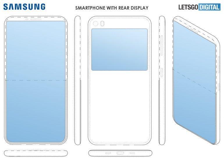 На задній панелі смартфона буде додатковий екран / фото Letsgodigital