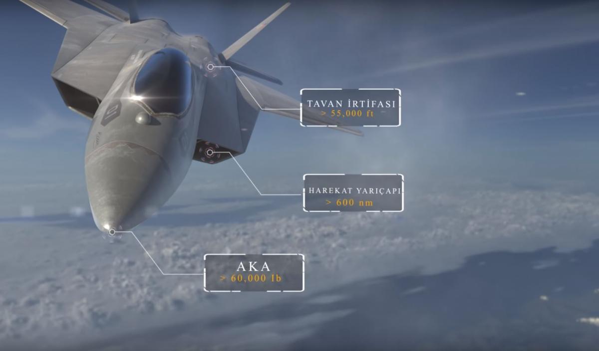 Турецкий истребитель TF-X / YouTube/ turkishaerospace