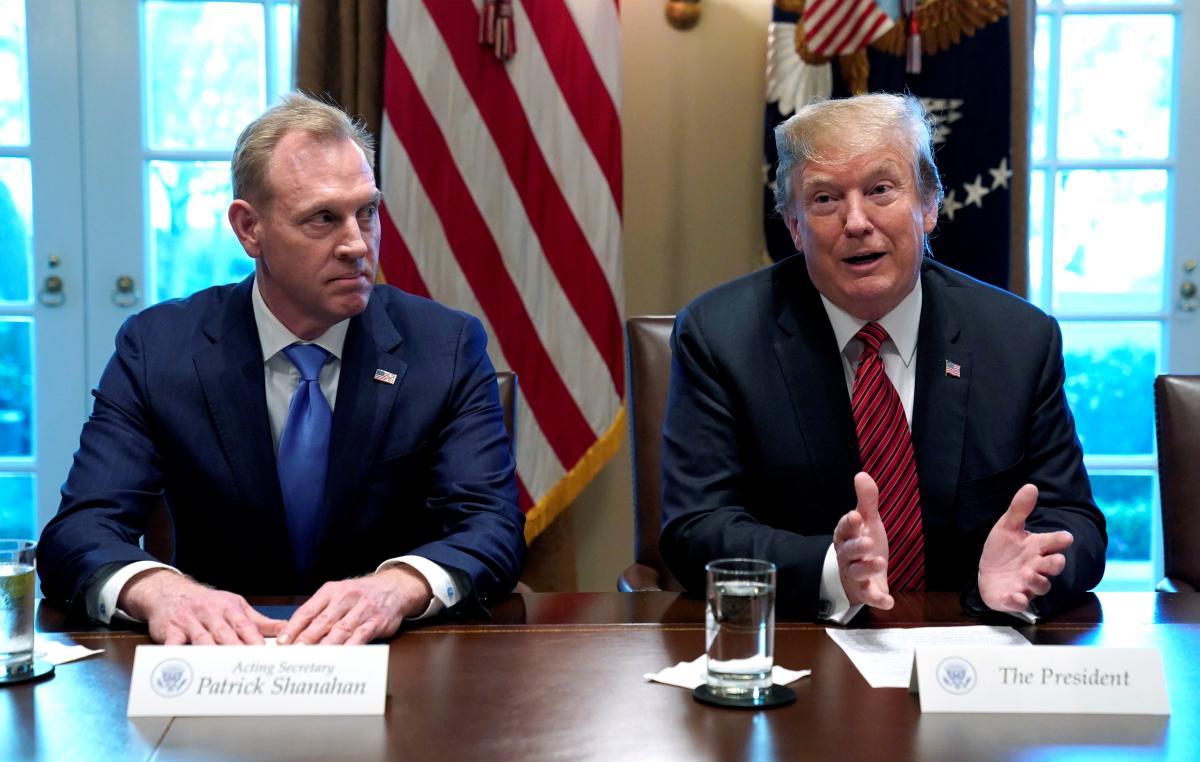 Patrick Shanahan and Donald Trump / REUTERS
