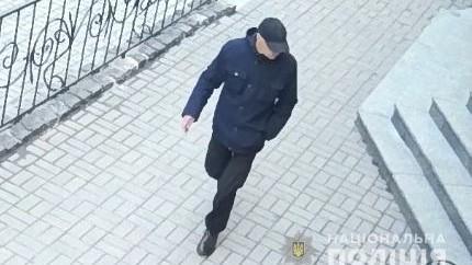 У день скоєння злочину чоловік був одягнений у чорні куртку і штани/ Нацполіція