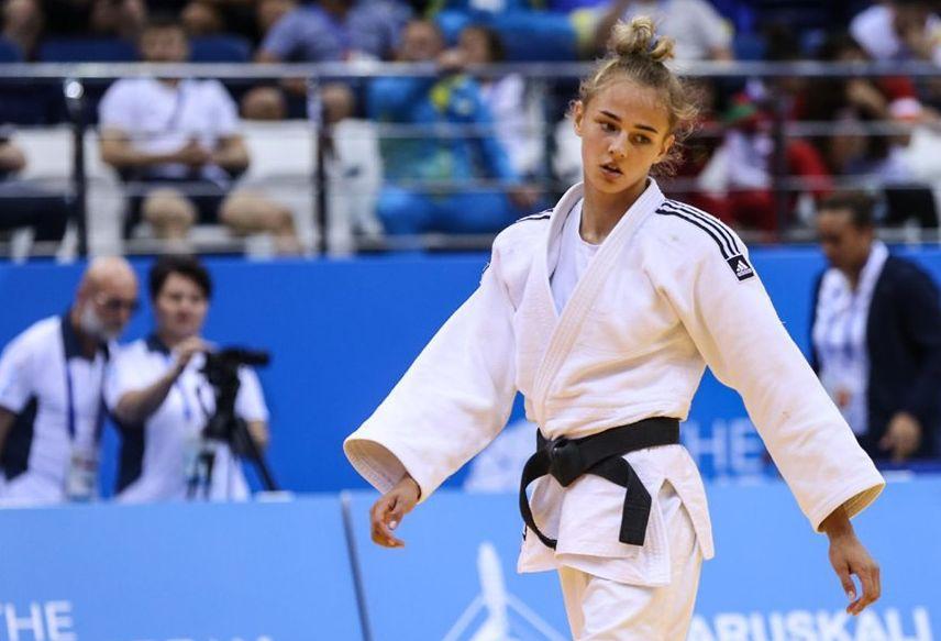 Дарья Белодед завоевала золотую медаль / фото: facebook.com/UkraineJudoFederation