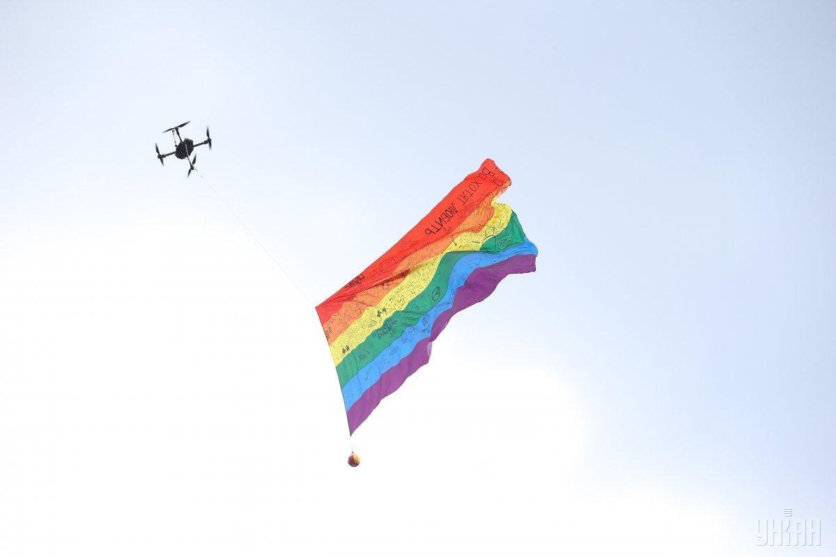 Злоумышленник не скрывал, что враждебно относится к гомосексуалам / фото УНИАН