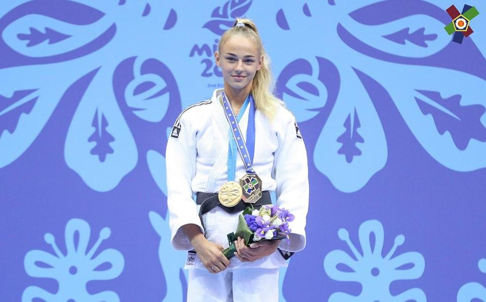 Daria Bilodid won a gold medal in a judo competition / facebook.com/olympic.ua