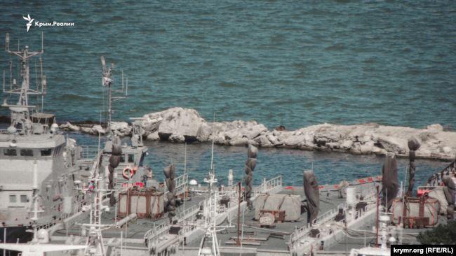 Кораблі зникли / фото ru.krymr.com