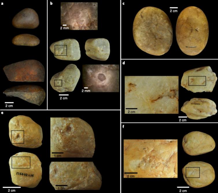 Знімки знарядь праці, знайдені археологами / Фото: Tiago Falótico et. al., Nature Ecology & Evolution 2019